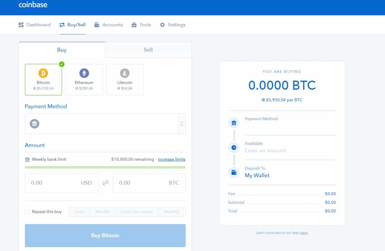 coinbase buy