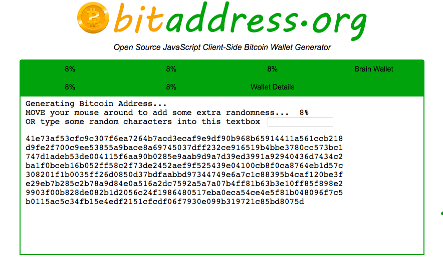 Bitaddress homepage