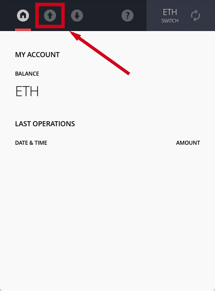ledger wallet app send ethereum