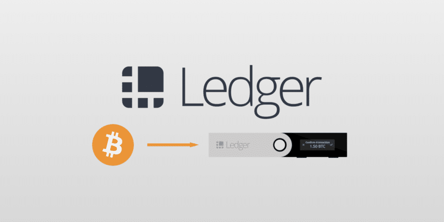 how to transfer bitcoin to a ledger nano s