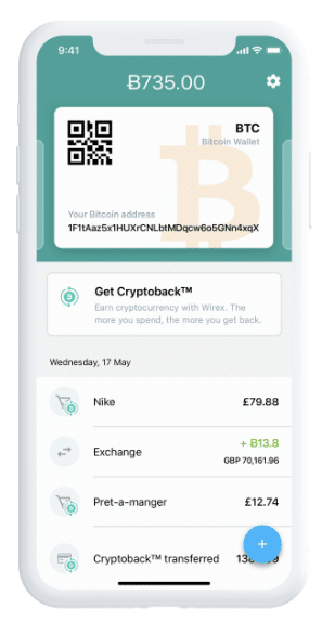 Wirex Mobile app via Homepage