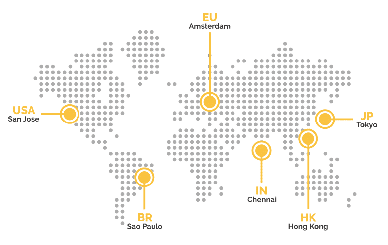 NiceHash server map