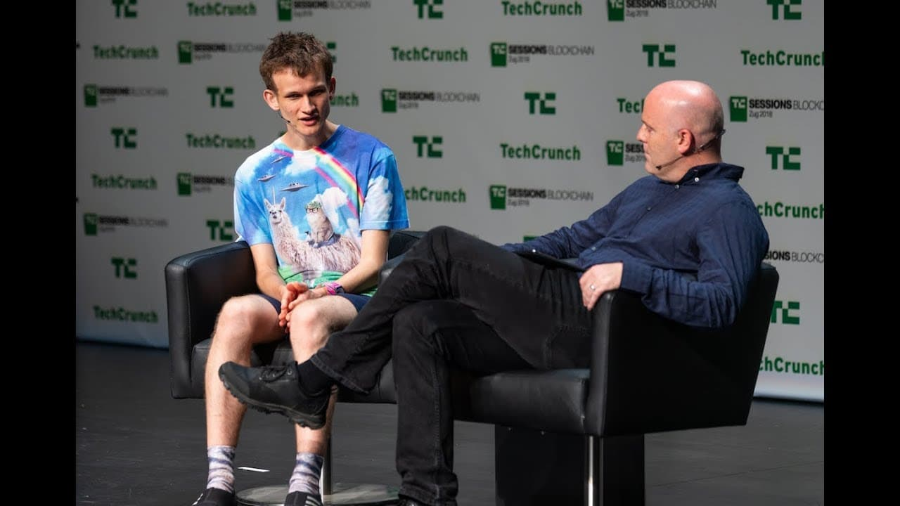 Image of Vitelik Buterin at a panel